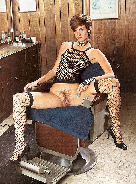 Hot naked women barbers